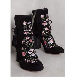 Embroider Floral Booties 🌺